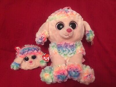 Ty Gear: Rainbow The Poodle Back-pack. PLUS Rainbow The Poodle Wristlet • 20£