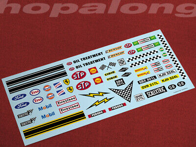 Scalextric/Slot Car 1/32 Waterslide Decals (with White Print) • 3.55£
