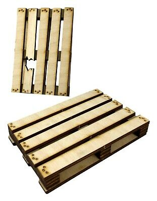 Pack Of 2 Wooden Pallets 5 /6 /7  Action Figure Diorama Accessory Kit 1/12 Scale • 8.99£