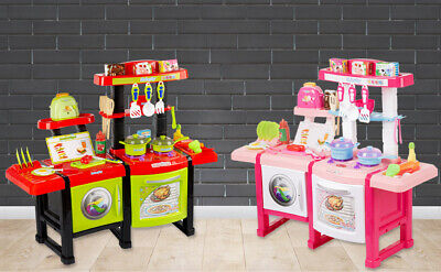 Kinderplay Toy Kitchen Role Play Pretend Cooking Girl LARGE Children Kids Toaste • 34.90£