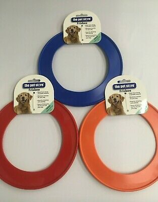 Frisbee Dog Toy Large Flying Play Fetch Toy 22cm Strong Durable Red Blue Orange • 3.25£