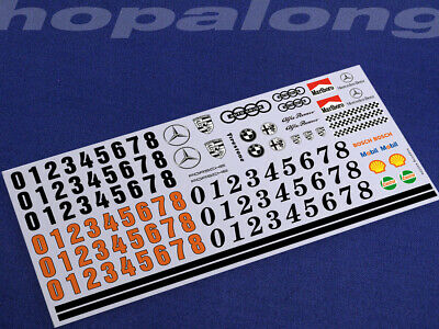 Scalextric/Slot Car 1/32 Waterslide Decals (with White Print). Ws005w • 3.55£
