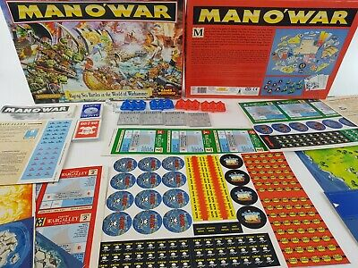 Man O' War Board Game 100% Complete NEW Unpunched And On Sprue [ENG, 1993] • 219.95£