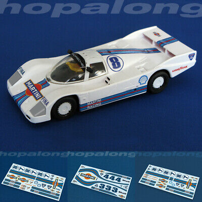 Scalextric/Slot Car 1/32, 1/43, 1/64 'Martini' Waterslide Decals (with White) • 3.55£