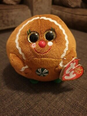 Ty Beanie Ballz Ginger - Gingerbread Christmas Collectable Xmas Present Gift  • 12.99£