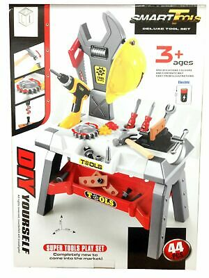 Kids Smart Deluxe Tool Set. 44 Pcs.with Working Drill NEW • 20.95£