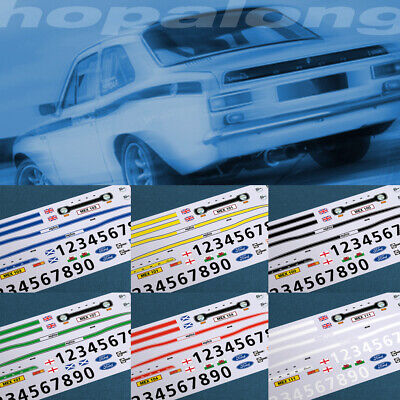 Scalextric/Slot Car 1/32 'Escort Mexico' Waterslide Decals - 6 Colour Options • 3.55£
