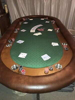 10 Seater Poker Table With Cup Holders, Padded Bumper, Race Track And Legs - 8ft • 999£