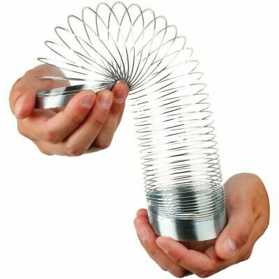 8CM Large Metal Springy  - Slinky Retro Spring Stairs Toy • 8.95£