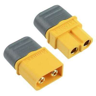 Male Female XT60 Gold Plated Connector With Cap 30A Amass • 2.19£
