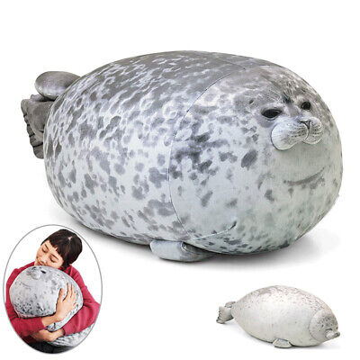 Large Chubby Blob Fluffy Seal Plush Cute Ocean Pillow Animal Stuffed Doll Toys • 36.99£
