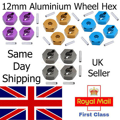12mm Aluminium Wheel Hex Nut (X4) For FTX Alloy Blue RC Carnage, Outlaw, Vantage • 5.75£