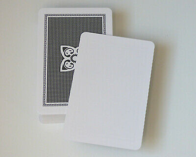 50 Blank Playing Cards / Flash Cards - Blank One Side • 2.95£