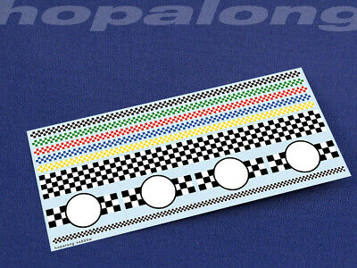 Scalextric/Slot Car 1/32 Scale Waterslide Decals. Ns005w (with White) • 2.85£