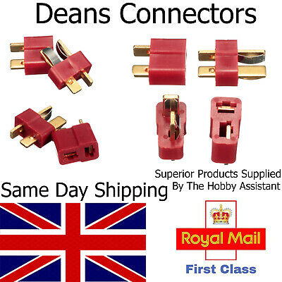 Deans Style T Plug Male Female Pair Connector RC LIPO Battery Hobby Set UK Lipo • 6.45£