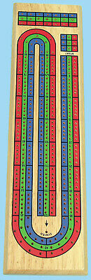 Cribbage Board - Three Handed Solid Wooden Board 00182 • 12.98£