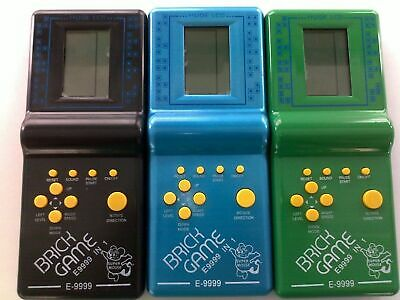 New LCD BRICK GAME SNAKE 999-IN-1 HANDHELD ARCADE CLASSIC GAMES • 5.99£
