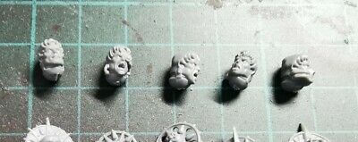 Warhammer 40k, 5x Blood Angels Sanguinary Guard Bare Flesh Heads Bits • 1.80£