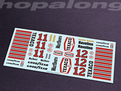 Scalextric/Slot Car 1/32 Scale Waterslide Decals. Ns032w (with White) • 2.85£