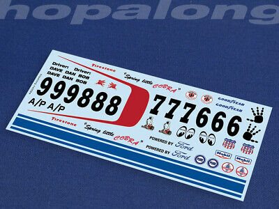 Scalextric/Slot Car 1/32 Scale Waterslide Decals - Ns008w (with White Print) • 2.85£