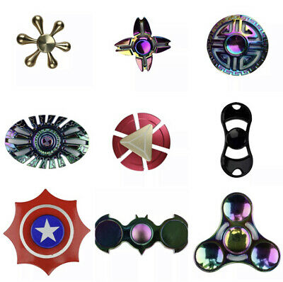 Fidget Spinner Colourful Metal Hand Spin Fast Bearing Stress Toys • 3.89£