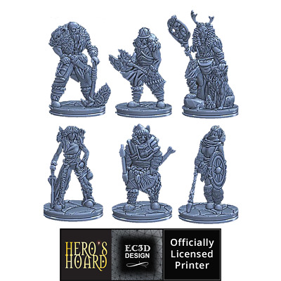 3D Printed Ice Tribe Set For Fantasy Tabletop RPG Dungeons & Dragons • 18.75£