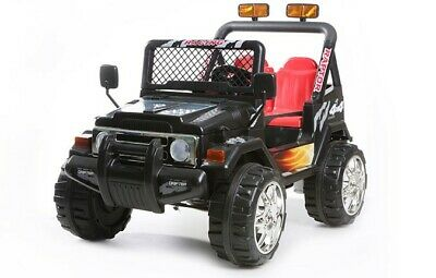 Kids 2 Seater Ride On 12v Electric Battery 4x4 Jeep In BLUE / RED / PINK / BLACK • 159.99£
