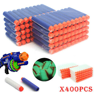 400Pcs Nerf Darts Refill Nerf Bullets Round Head Blasters For N-Strike Toy • 8.99£