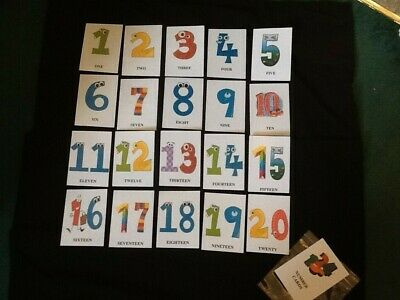 Numbers 1-20 Flash Cards / Educational Cards / Early Learning (rounded Corners) • 4.50£