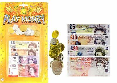 Kids Pretend Play Money Toy Cash Coins UK Pound Sterling Educational Numeracy • 2.25£