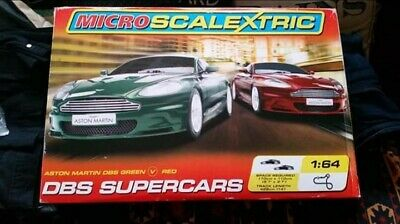 MICRO SCALEXTRIC DBS Supercars Set 1:64  - Complete - Tested  • 20£