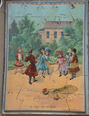 Jigsaw Puzzle Children PlayIng Educational Complete 100 Years Old Circa 1910-20 • 14.95£