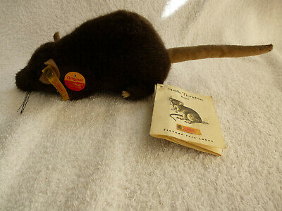 Steiff Brown Rat. Made For USA Collectors. Ear Button & Tags.Life Size. • 55.50£