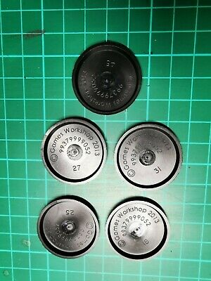Warhammer 40k, 5x Original Games Workshop 32mm Bases Bits • 0.99£