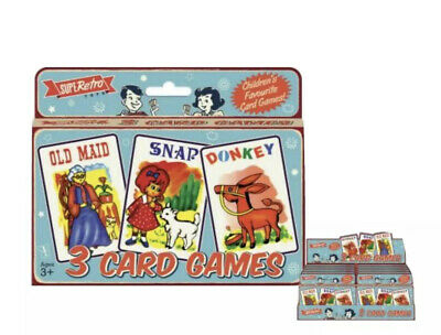 Old Maid  Snap  Donkey 3 Childrens Kids Card Games • 2.99£
