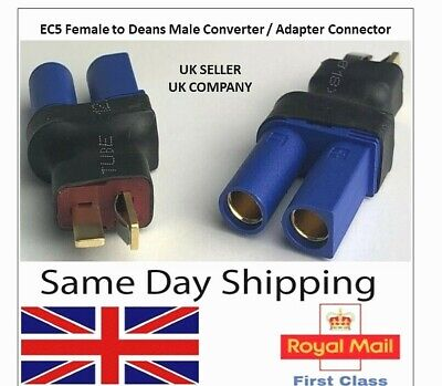 EC5 Female To Deans Male Adapter Converter Connector Lipo Battery Adaptor RC UK • 4.25£