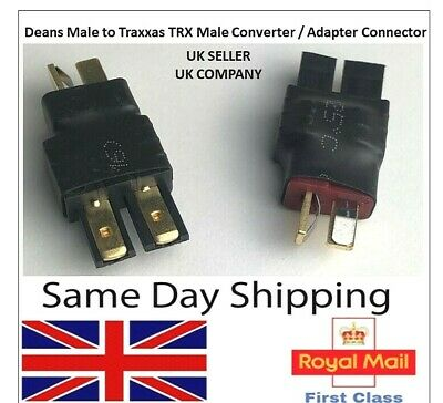 TRX Male To Deans Male Adapter Converter Connector Lipo Battery Adaptor RC UK • 4.25£