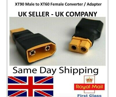 XT90 Male To XT60 Female Adapter Converter Connector Lipo Battery Adaptor RC UK • 4.45£
