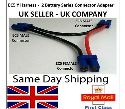 EC5 Y Series Cable Lead Harness Connector Adapter 2 Battery Adaptor Lipo ESC RC  • 5.35£