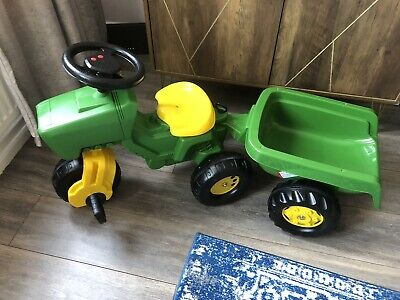 John Deere Kids Ride On Tractor And Trailer • 65£