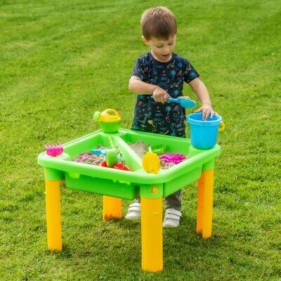 Kids Water And Sand Table With Accessories Outdoor Children Garden Sandpit Toys • 32.49£