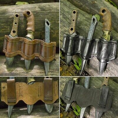 Foam Latex, Bendable Rogue Knife Set And Holder. For Costume Or LARP • 38£
