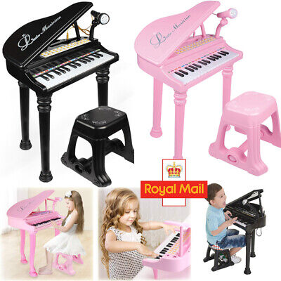 Educational Musical Electronic Children's 31 Key Kids Toy Grand Piano With Stool • 26.96£