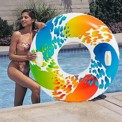 Intex 48-inch Color Whirl Tube Inflatable Pool Float Lilo Beach Swim Ring Toy • 10.99£