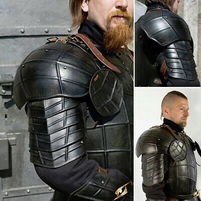 Medieval Dark Drake Pauldrons / Shoulder Armor, Ideal For Costume Or LARP • 104£