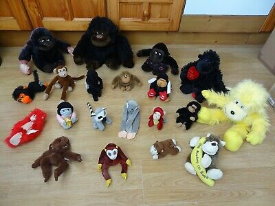 Bundle 20 X Plush Soft MONKEYS 12 Ins High Max - Inc LET'S MONKEY AROUND Monkey • 5.99£