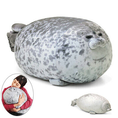 Large Chubby Blob Fluffy Seal Plush Cute Ocean Pillow Animal Stuffed Doll Toys. • 27.98£