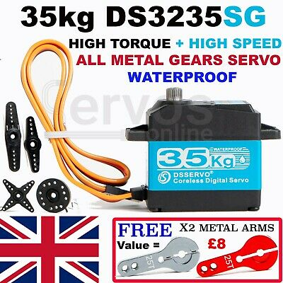 Waterproof 35KG Metal Gear Digital Servo Corless High Torque & Speed DS3235SG RC • 23.95£