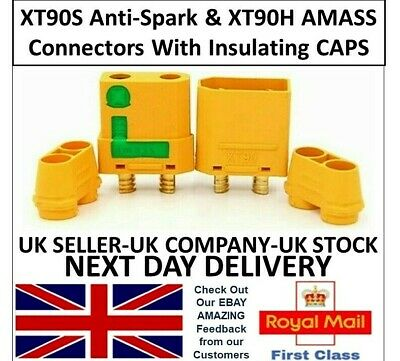 ANTI SPARK AMASS XT90S & XT90H Connector Pairs Female Male RC Battery Lipo UK  • 7.65£