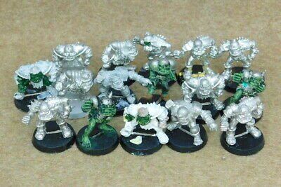 Bloodbowl Metal ORC BLOOD BOWL TEAM 16 Players GW Citadel 70325 • 49.99£